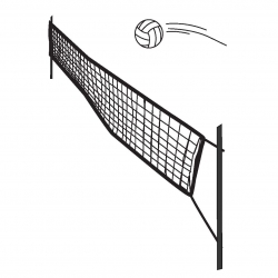 Volley kampnet 9,5x1m