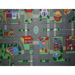 Legetæppe med vejbaner